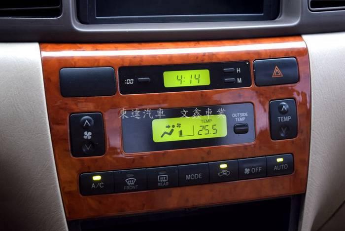 豐田 altis 2003年 字-27